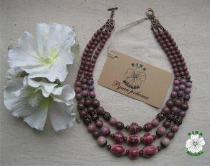 родоніт, намисто, necklace