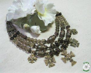 намисто, згарди, етно, Ukrainian necklace, кварц
