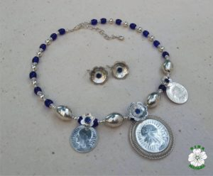 срібло, намисто, етно, Ядвіга, дукач