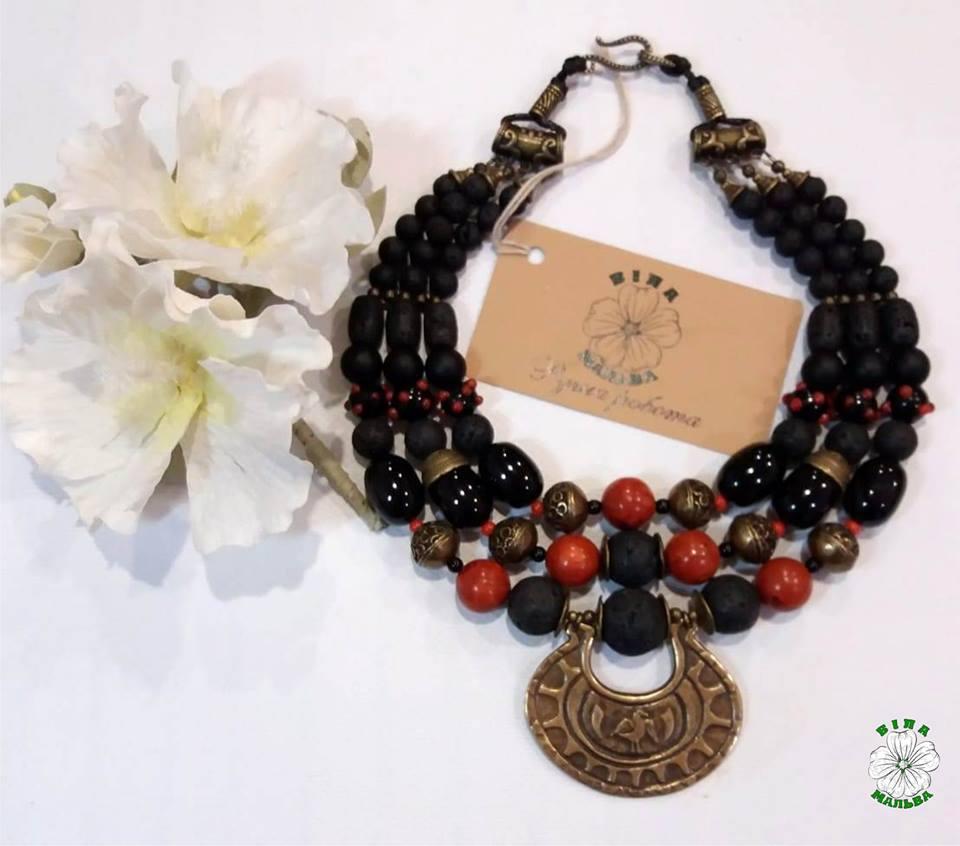 намисто, лава, етно, згарди, necklace