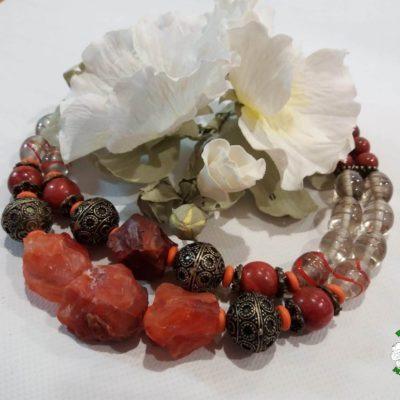 етно, намисто, ampwork, губковий корал, яшма