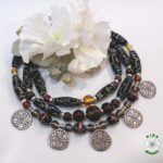 Ukrainian necklace, намисто, етно, lampwork